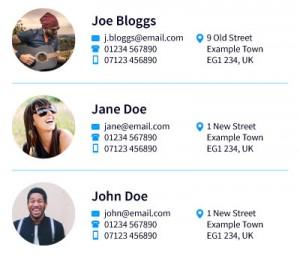 Sample Members Directory
